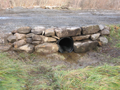 New Culvert with Native Stone Headwall